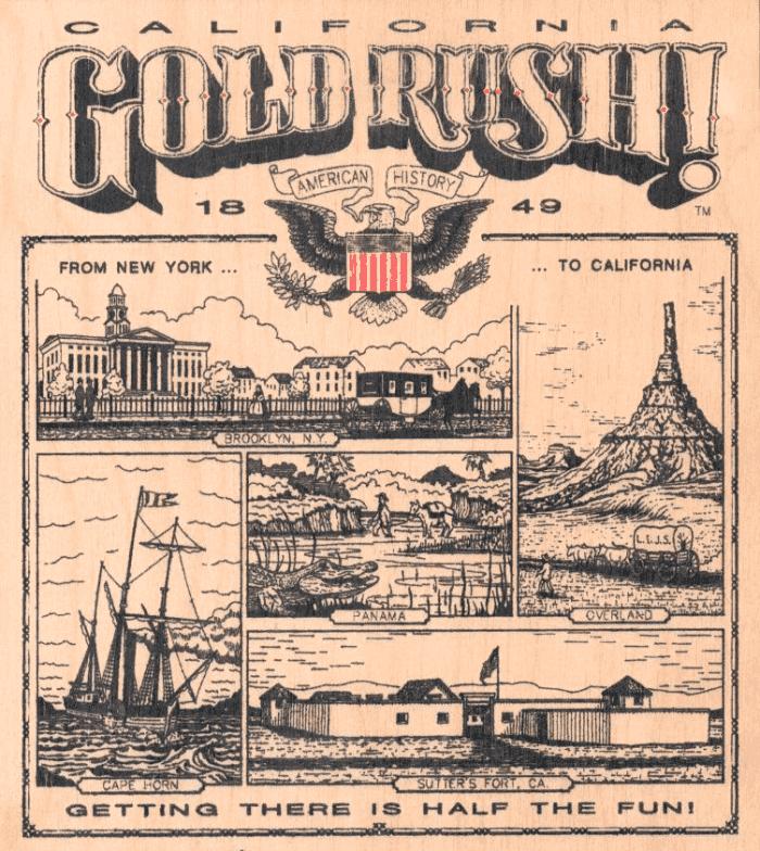 gold-rush-old-poster - Maritime Museum of San Diego