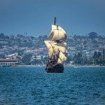 San Salvador under sail