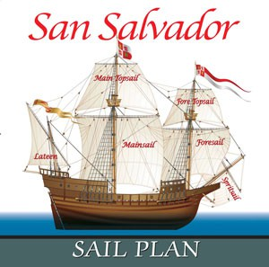 San Salvador Sail Plan