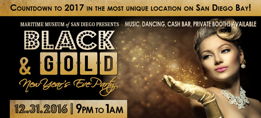 Black an Gold New Years Eve Party
