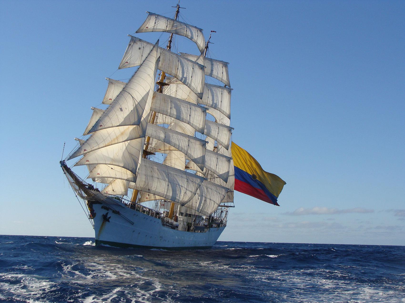 Columbian tall ship Gloria
