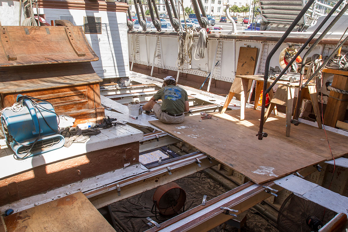 Maritime Museum of San Diego Re-Decks Star of India