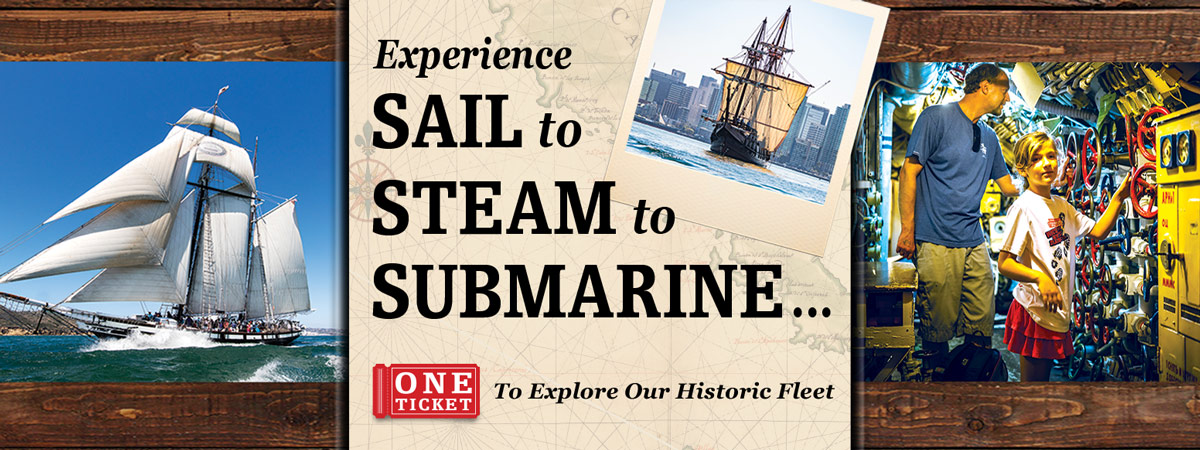 Sail, Steam, Submarine at Maritime Museum of San Diego