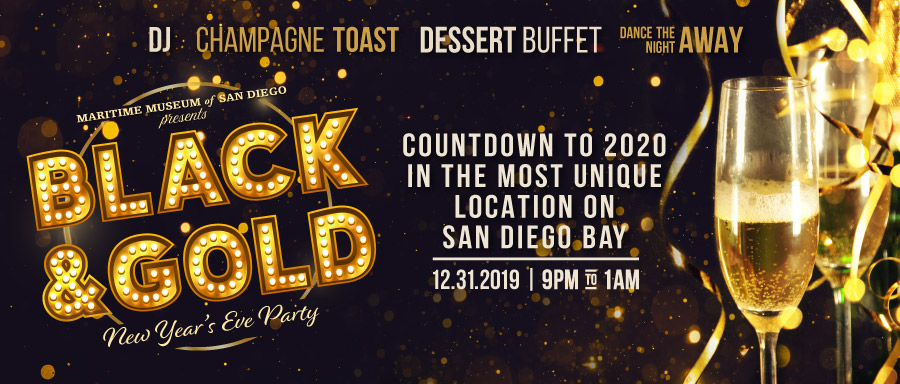 Black and Gold New Years Eve Party