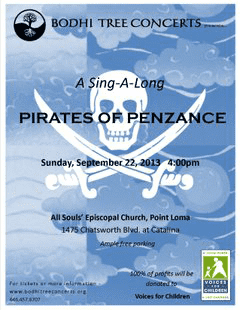 Bodhi Tree Concerts - Pirates of Penzance