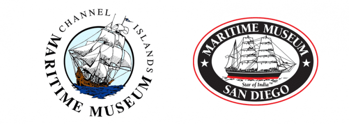 Partner logos, Channel Islands Maritime Museum, and Maritime Museum San Diego