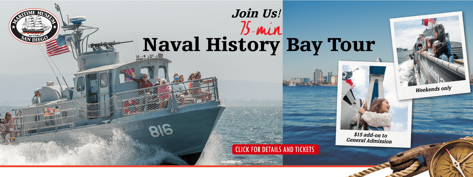 75 minute Naval History Tour aboard Swift Boat